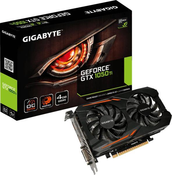 Placa video GIGABYTE GeForce GTX 1050 Ti OC 4GB GDDR5 128-bit